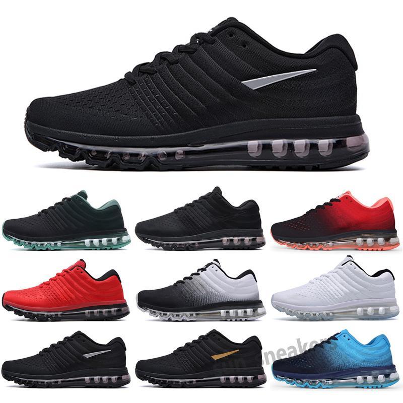 MAX 2017 Yeni Unisex 2017 360 Koşu Ayakkabıları Erkekler Kadınlar Için 2016 Spor Sneakers Eğitmenler Yüksek Kalite Siyah Beyaz Kırmızı Yeşil ABD Boyutu5.5-11 S25