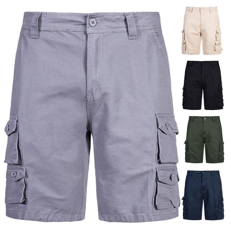 Şort Moda Casual Erkek Giysileri Yaz Erkek Spor Şort Çok Cep Basketbol Kargo Şort Beşinci Pantolon Koşu