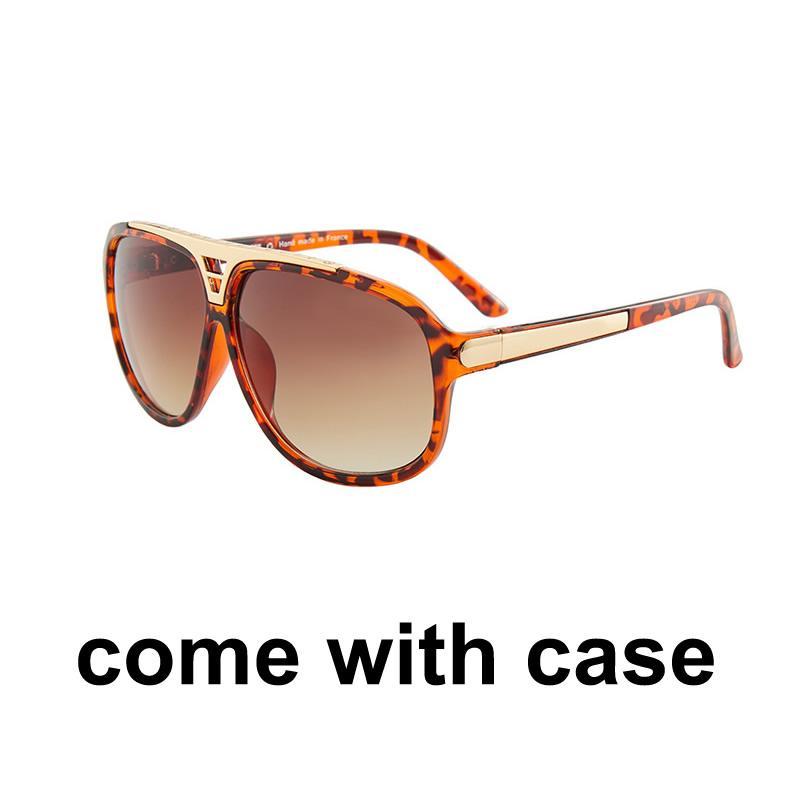 송료 무료 맨 위로 맨 위의 새로운 선글라스 여성 에리카 안경 디자이너 브랜드 태양 안경 매트 표범 그라데이션 UV400 렌즈 케이스