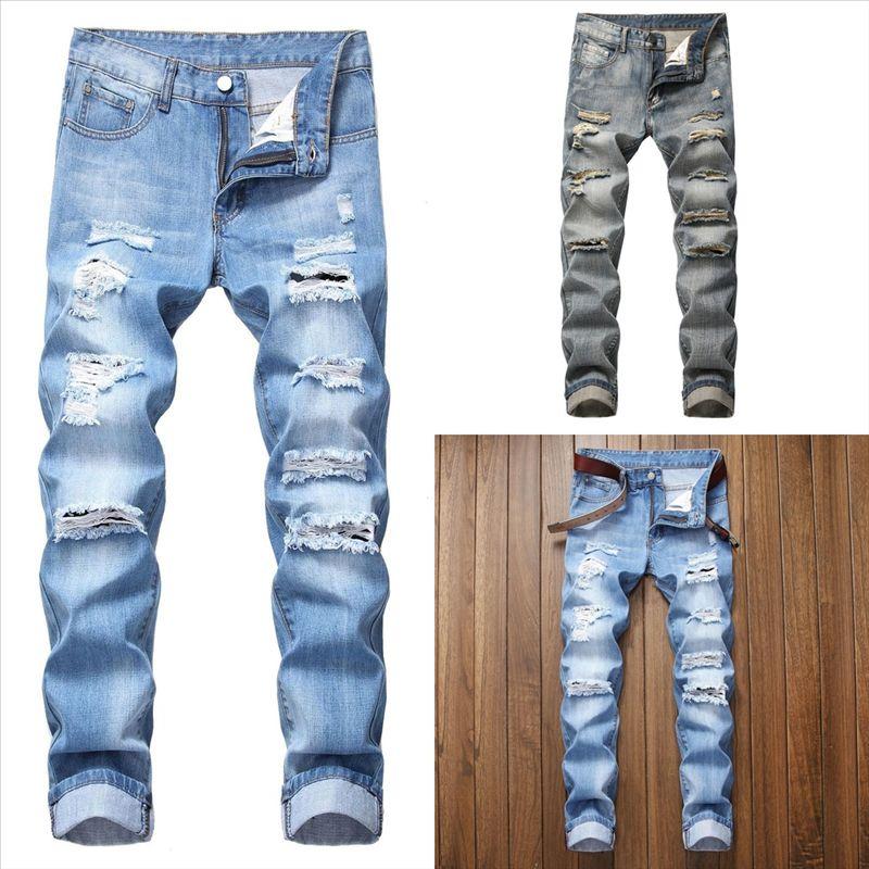 aM0MQ Privathinker Solid seee man Color Joggers Men's Denim Harem Pants Korean Men Loose jeans Pants Trousers MMan hole