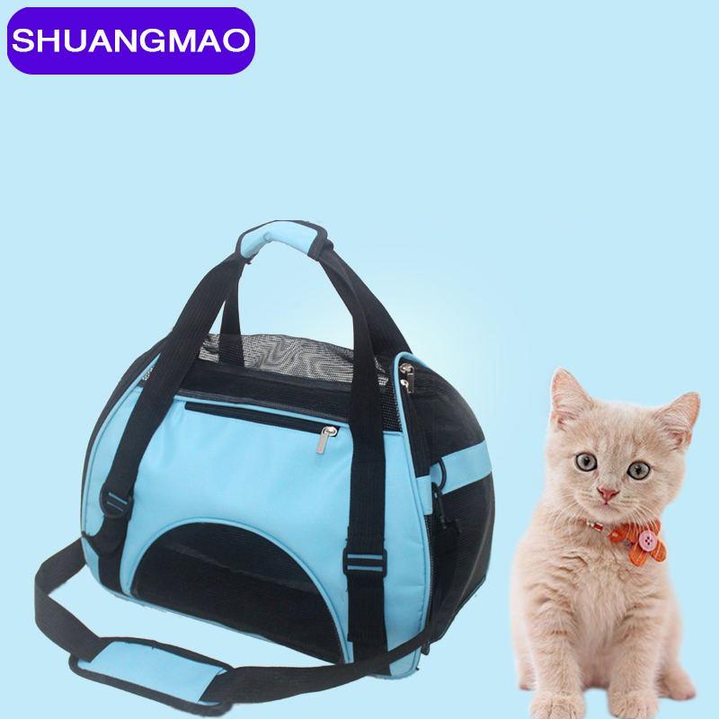 الحيوانات الأليفة الكلاب القط الكتف حقيبة السفر القط الكلب حمل أكياس الكلاب الناقل حقيبة لينة صغيرة تنفس الحيوانات الأليفة حقيبة الظهر القط حقيبة الظهر LJ201201