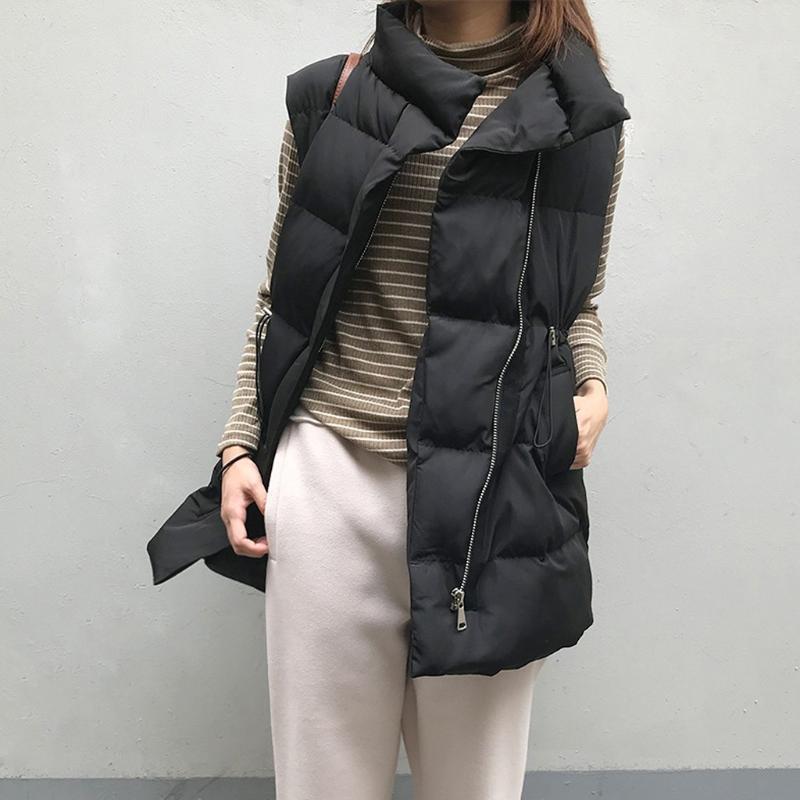 Женские жилеты jtfan зима белые и черные женщины жилет est женские короткие куртки свободные дикие повседневные куртки вниз верхняя одежда Parkas
