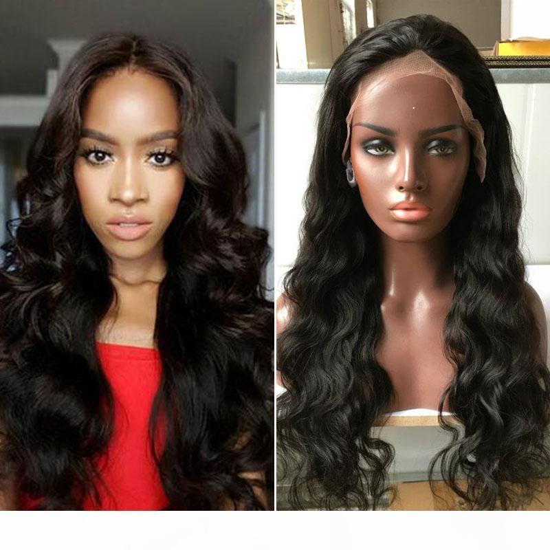 Perruques de cheveux humains Peruviens Perruques de cheveux humains Perruques de corps Meilleure dentelle avant Perruque avant 130% Densité