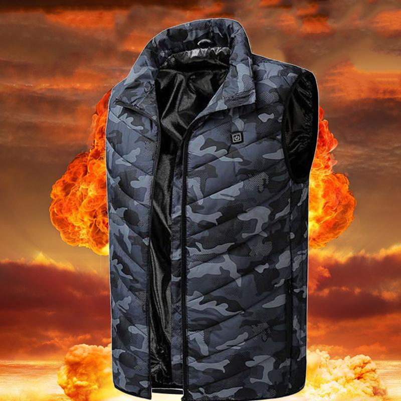 Heated Vest Heating Jacket for Men and Women USB Electric Warmer Clothes Outdoor Men Winter Electrical Heated Sleevless Jacket
