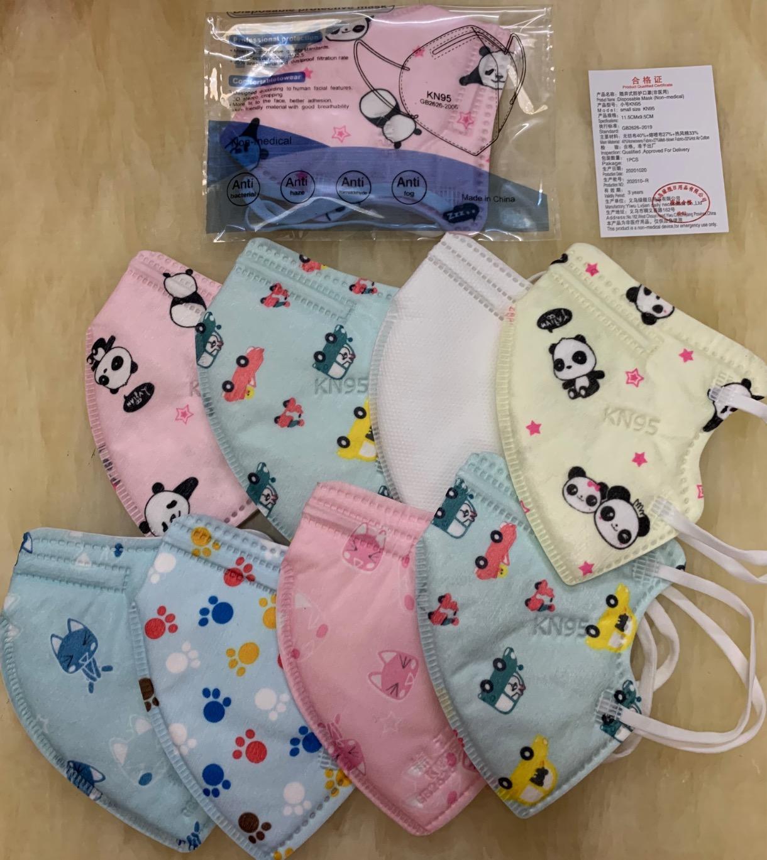 KN95 FFP2 Kids Mask Designer Face Mask Crianças para Meninos Meninas 3-12 Anos Mascarilla 5 Camadas FFP2 Embalagem Individual MASQUE ENFANT em estoque