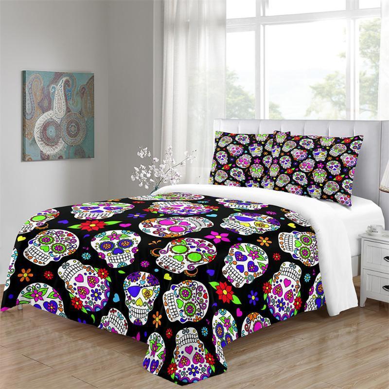 Custom Pumpkin Halloween Cartoon Bedding Set Twin Full Queen King Size Comforter Cover Home Textiles 3 Piece Bed Linen Set