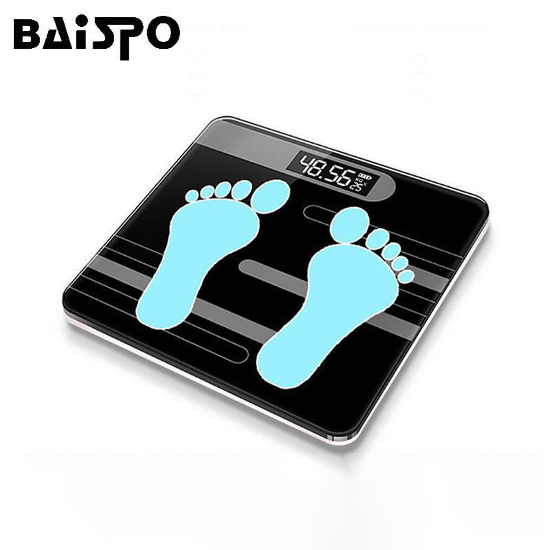 Baispo Floor Bathroom Bilande per il corpo domestico elettronico digitale pesante pesare display LCD Q1201