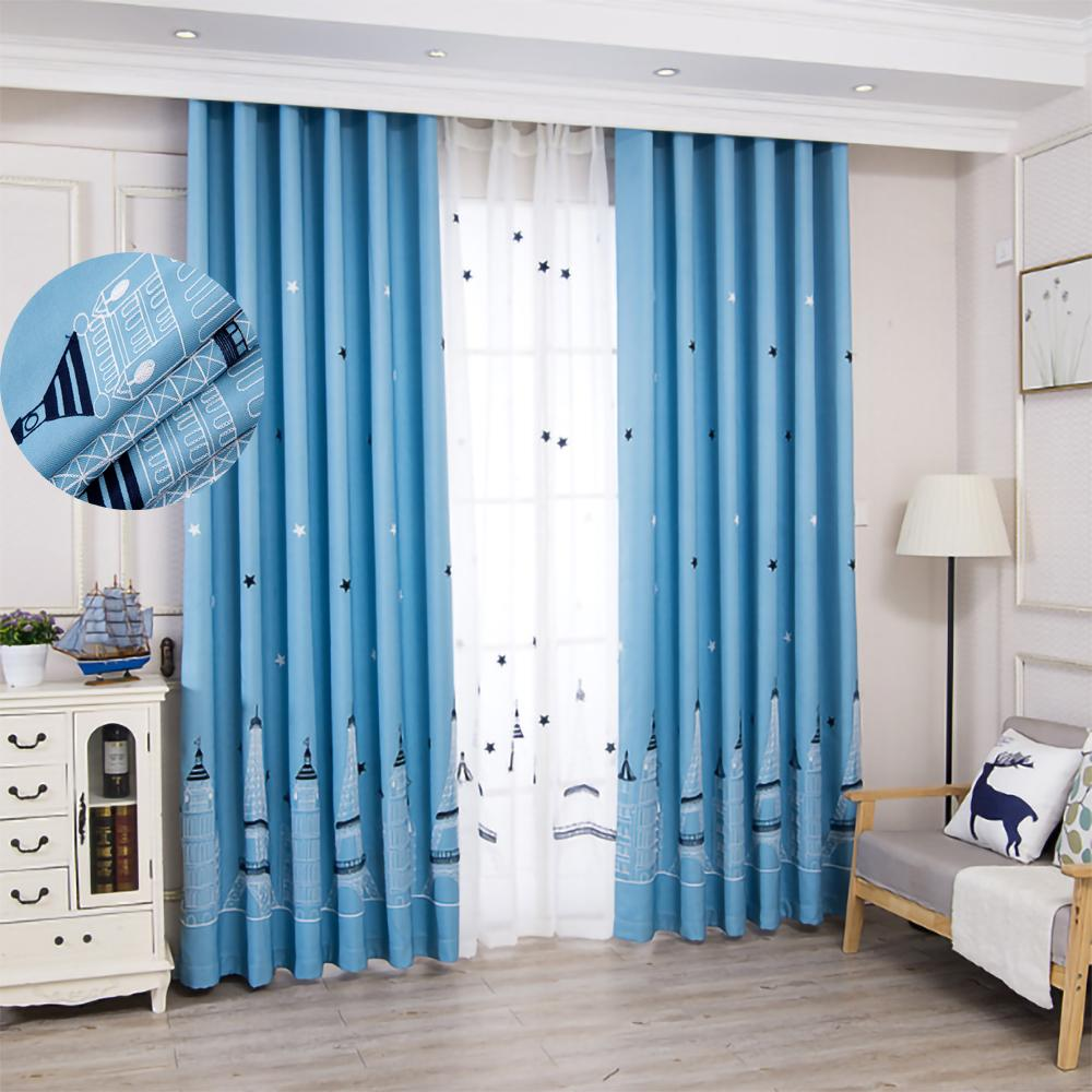 Castle Blackout Curtains Finished Custom For Bedroom Princess Children Room Curtain Baby Kid's Room Windows Curtains F1218