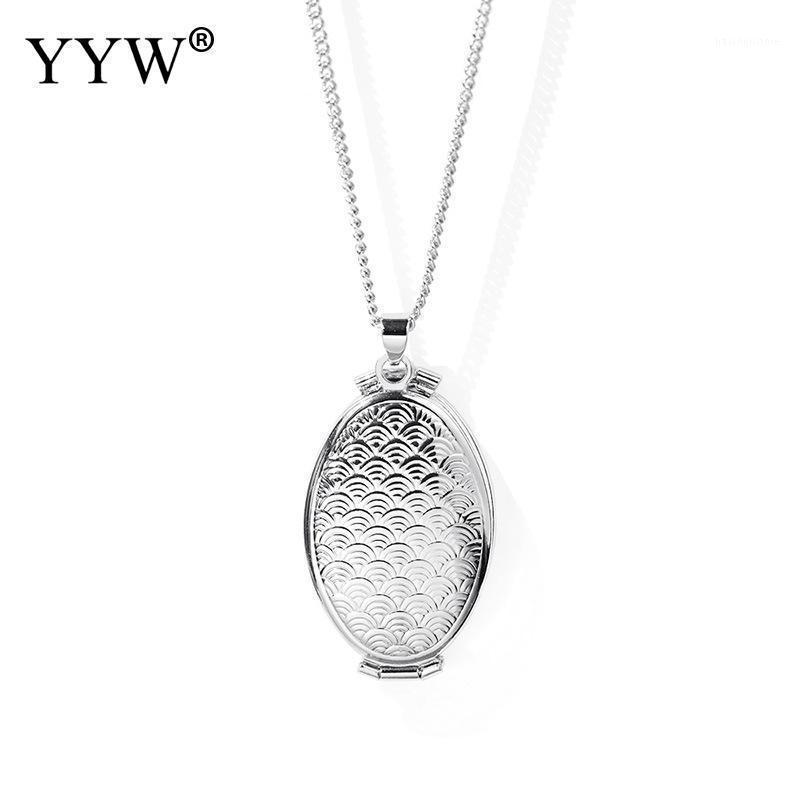 Латунный медальон ожерелье личности мода ювелирные изделия унисекс расширение фото медальёное ожерелье кулон ювелирных изделий подарок для женщин1