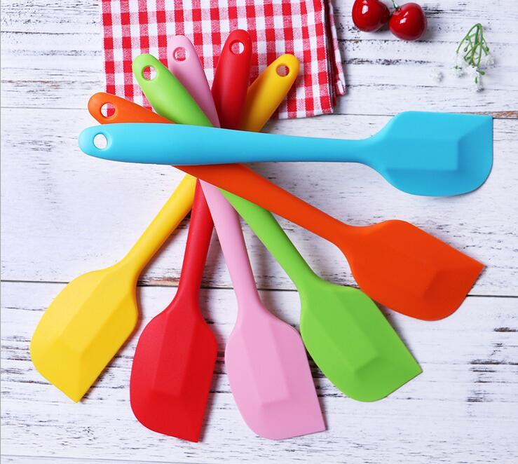 Kitchen Silicone Cream Butter Cake Spatula Baking Butter Scrapers Batter Scraper Brush Butter Mixer Tool Fast Shipping