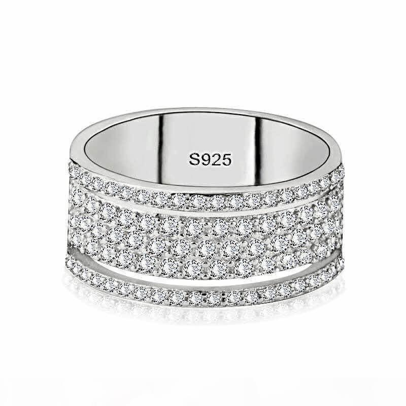 K choucong victoria wieck luxe bijoux de luxe 925 sterling argent Star Star Saphire CZ Diamond Eternity Femmes Bague de mariée