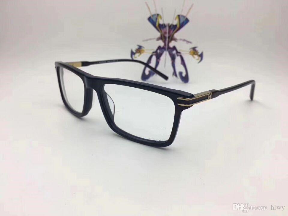 Mb8032 marque italienne de marque conçue lunettes cadre lunettes cadre mâle assortie à plat fini lumière myope lunettes cadre