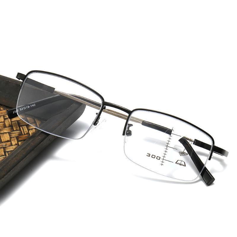 Transición Progresivo Multifocus Lecturas de lectura Anti Azul Flexible Presbiapia Eyewear Memoria Aleación Fotocromática Lector