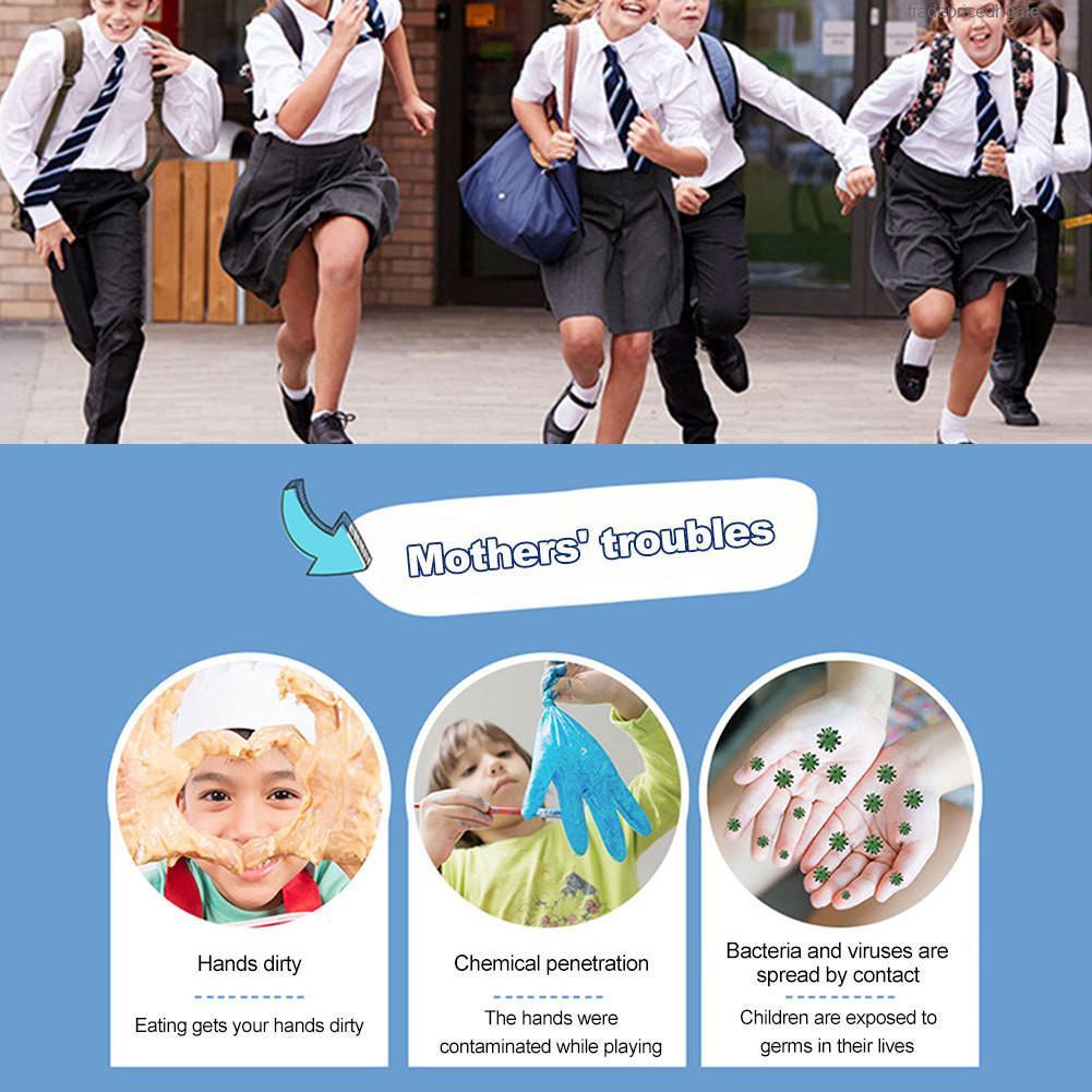 Guanto per famiglie per ragazze monouso per ragazzi 20pcs Latex Small Dimensione Small Dimensione addensata Guanti da istruzione Nitrile Anti inquinamento