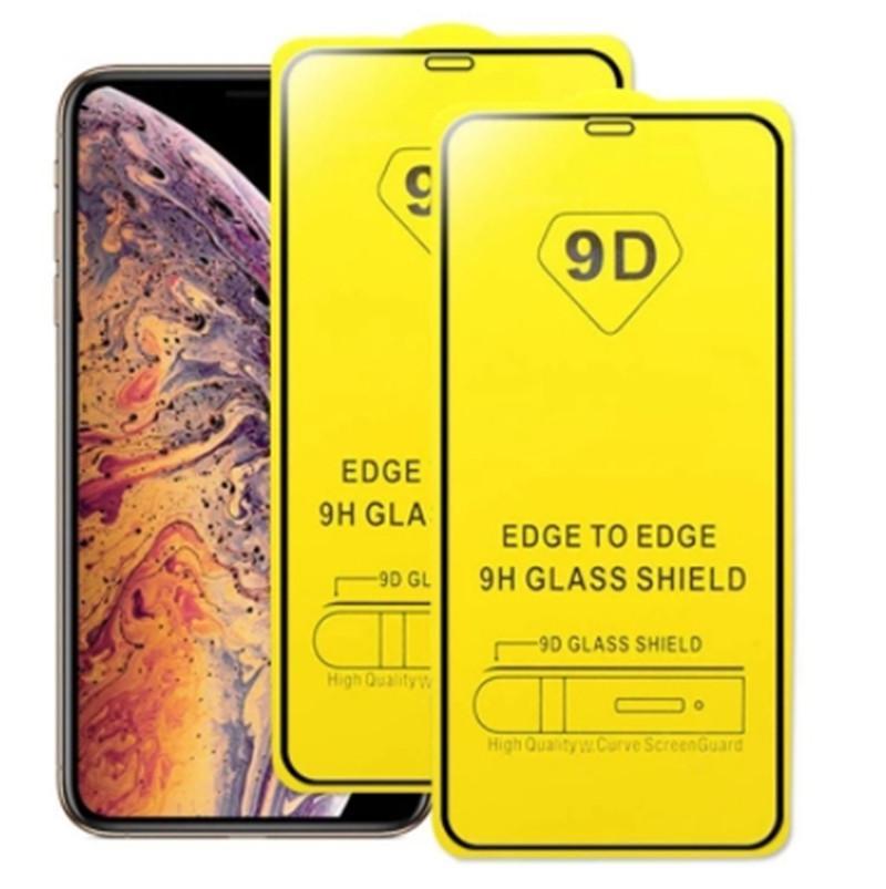 2021 9D Full Cover Tempered Glas Vollkleber-Display-Schutzfilm für iPhone 12 Mini 11 Pro x x x XR 7 8 Plus SE