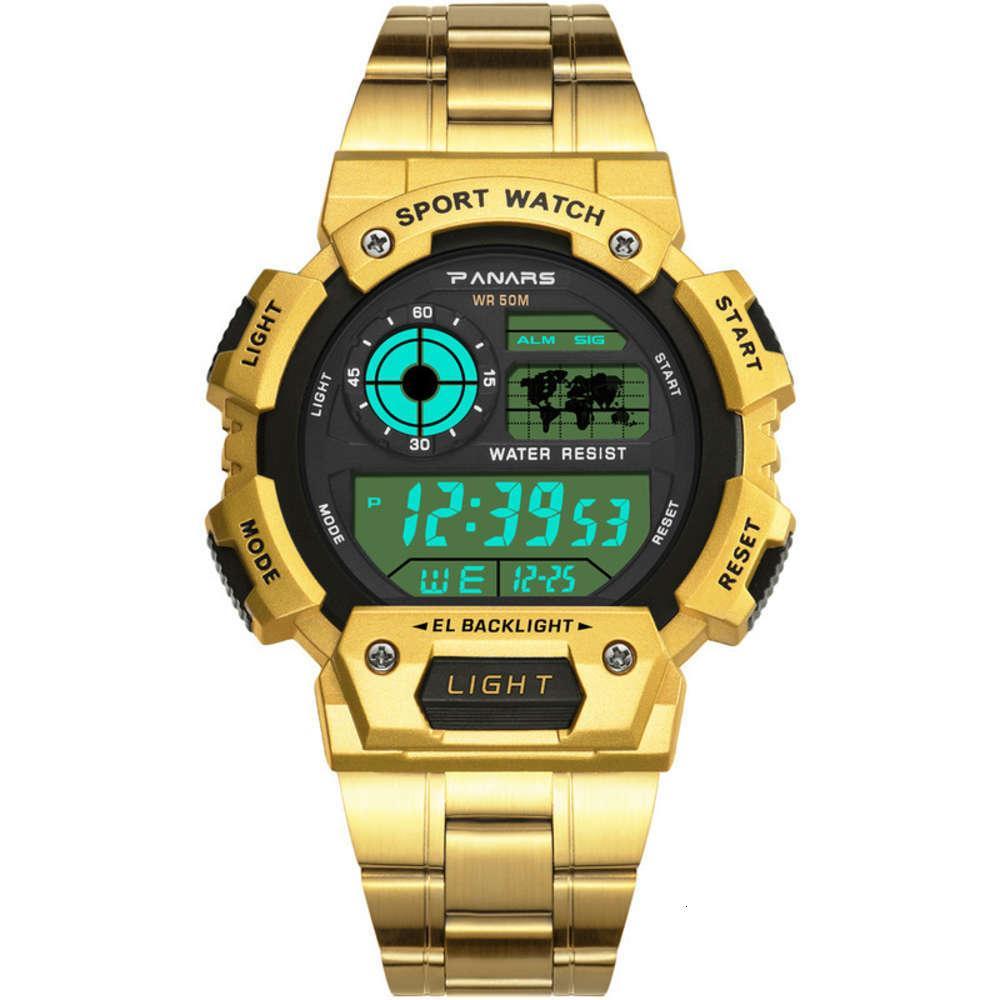 Reloj de banda Acero Luminous Multifuncional Aleación Deportes Moda Lujo Luxury Watch Hombre Venta caliente