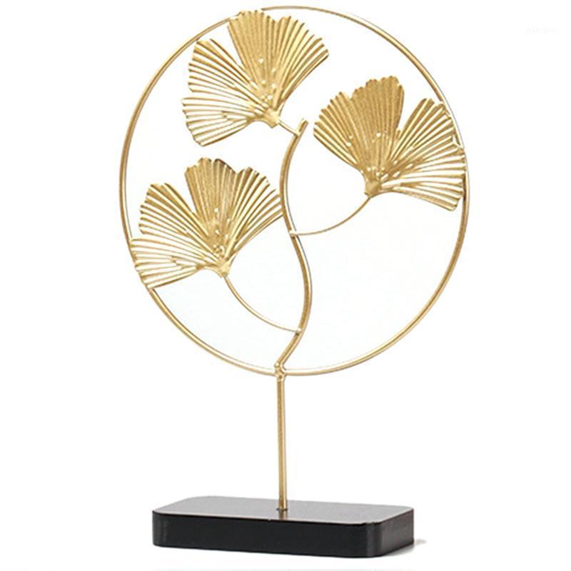 Golden Ginkgo Biloba Ornamente Blätter Handwerk Home Wohnzimmer Porchtop Möbelmöbel1