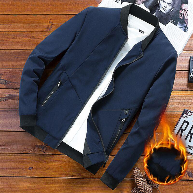 Mens Coat Jacket with Long New Arrival Zipper Hot Sale Fashion Mens Jacket with More Wear 3 Colors M-8XL