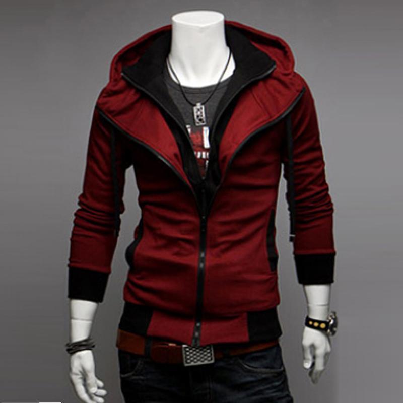 2021 Neue Herbst Herrenjacke Kultivieren Absatz Farbe Matching Jacke Male Kapuzenmantel