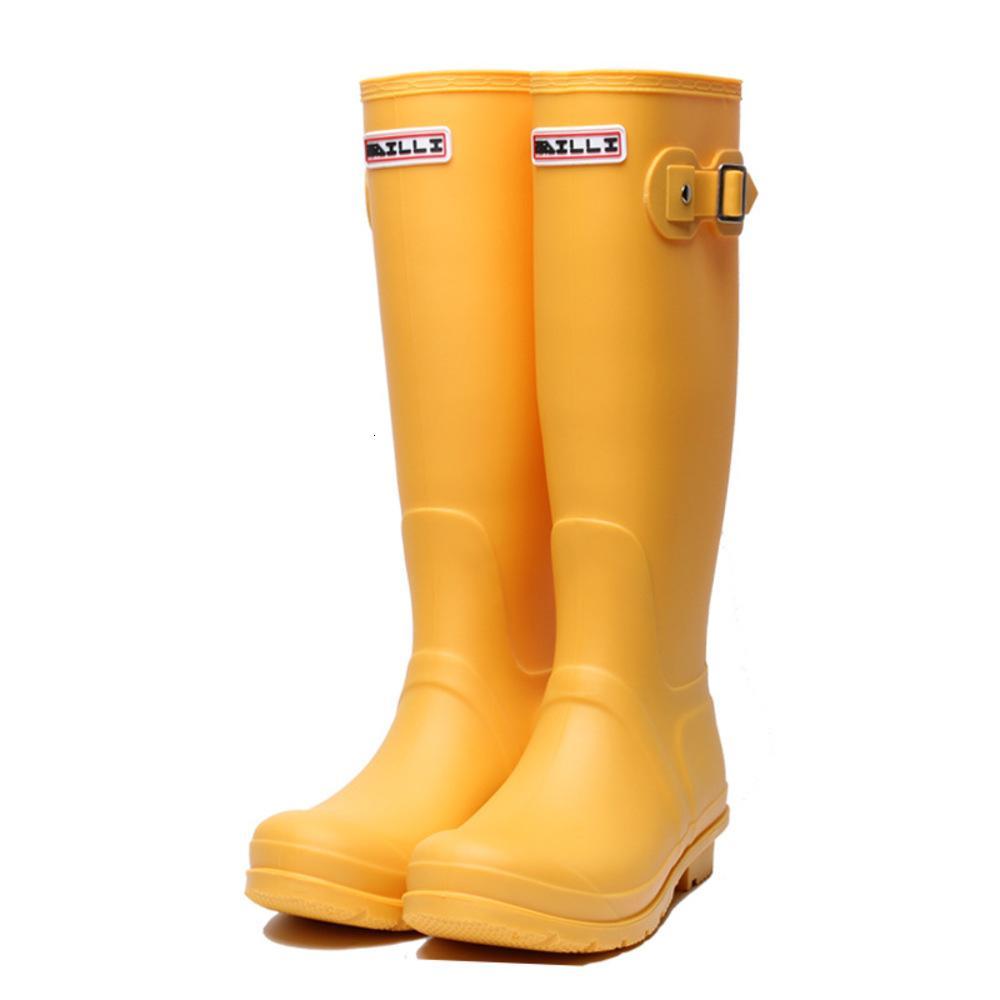 Резина высокий дождь для женщин Британский классический водонепроницаемый дождевой головки Дамы Wellight Wellington Matthe Boots F54