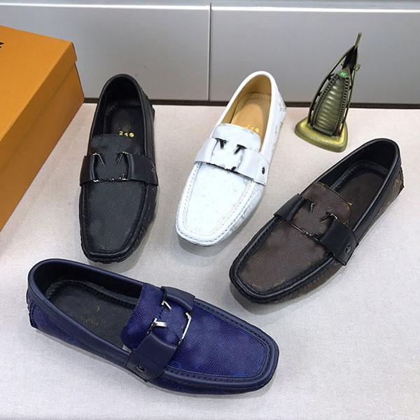 Novos sapatos de vestido de homens de alta qualidade e impressão clássica de moda plana ervilhas sapatos para homens tênis sapato melhor qualidade