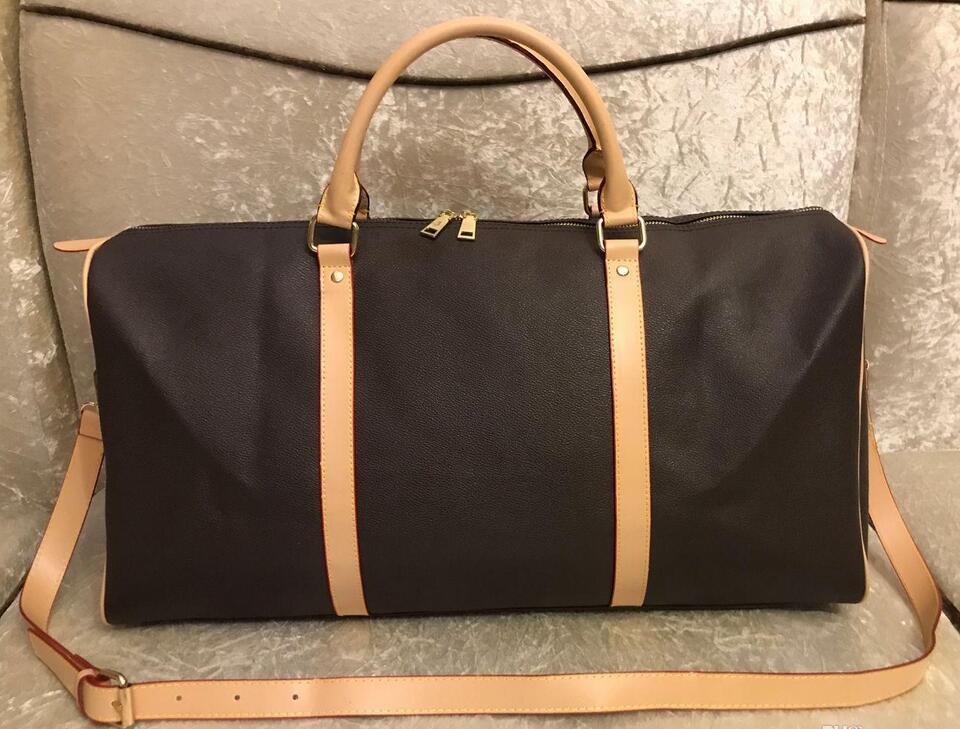 2021 uomini borsone borsa da viaggio borse da viaggio a mano bagaglio da viaggio borse da viaggio uomini PU borse in pelle di grandi dimensioni borse a tracolla totes 55cmfree trasporto