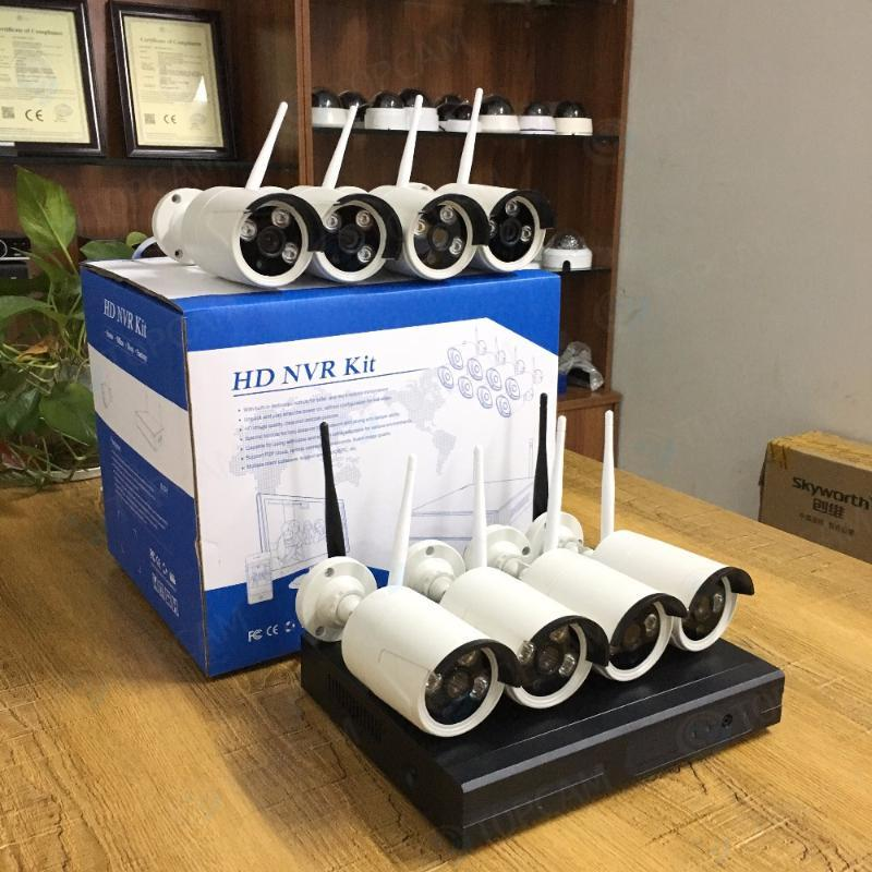 Kits de câmera sem fio Sistema CCTV 960P 8CH HD NVR Kit Outdoor IR Night Vision IP Wifi Home Security Vigilância