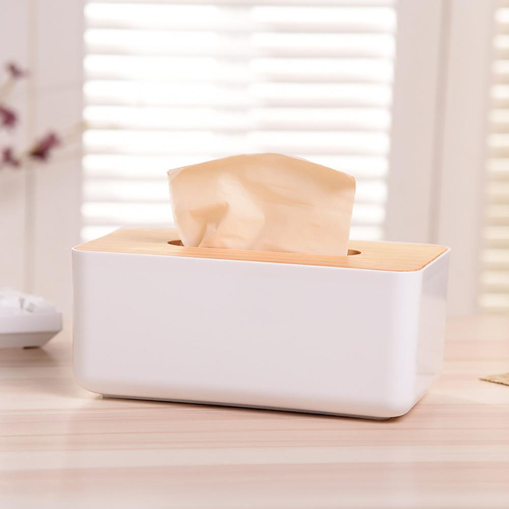 Caixa de tecido de madeira estilo europeu casa contentora de tecidos de toalha de toalhas de toalha capa para casa