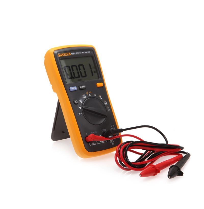 광섬유 장비 Fluke 15B + OHM 자동 / 수동 범위 디지털 멀티 미터 정전 용량 저항 공장 직접 판매