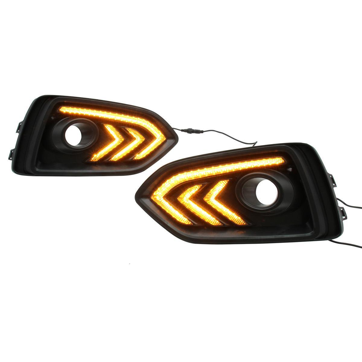 Автомобильные фонари заднего бампера на 2017-2018 годы Hyundai Accent LED Fog Light Light бегущие огни DRL тумана