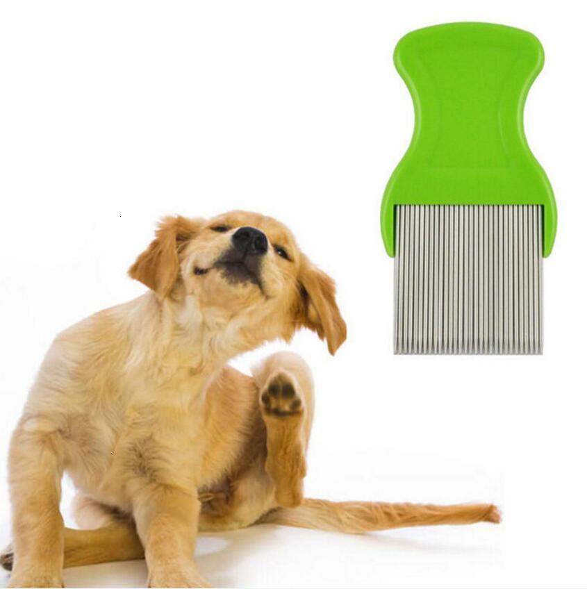 Peigne chien chat cat nit animaux de compagnie moule puce de pet-papiers coffre-fort puce de poussière poussière dissolvante acier inoxydable brossage brosses dents livraison gratuite