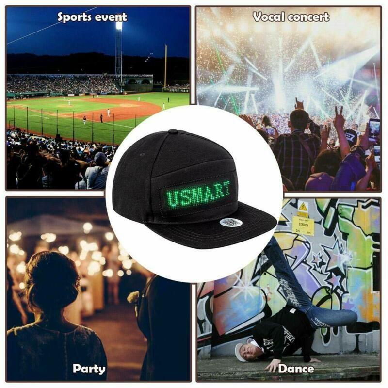 En iyi Unisex Erkekler Kadınlar Animasyonlu LED Mesaj Işareti Hiphop Kap Ayarlanabilir Beyzbol Şapka Yeni