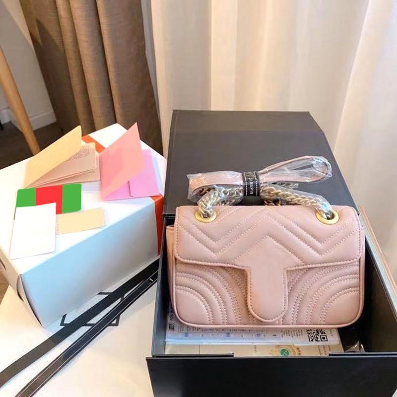 Luxe DMXTT Marmont Sac à main Meilleur avec Diamond Fashion Messenger Messenger Cross Sacs Designer Boutons de l'épaule 2021 Nouveau Body Lattice Howuq