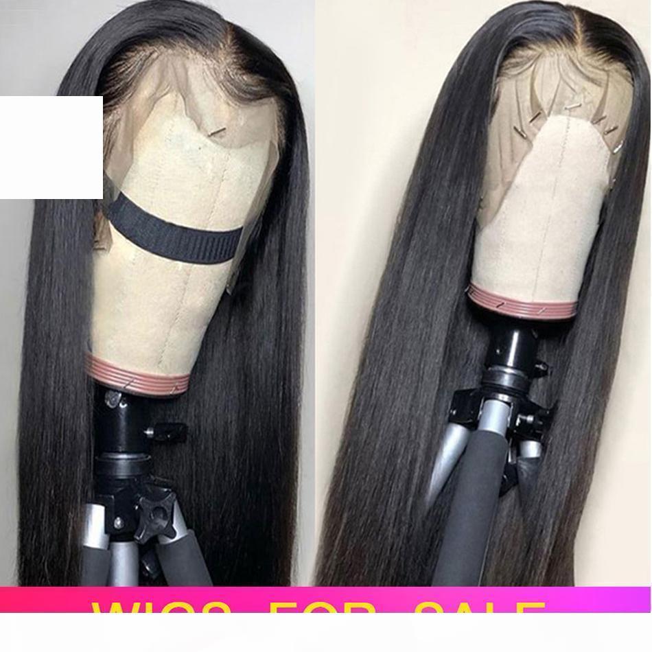 13x6 кружева фронт человеческих волос парики предварительно сорванные волосы бразильские прямые кружева передний парик с детскими волосами Remy кружевные парики отбеленные узлы