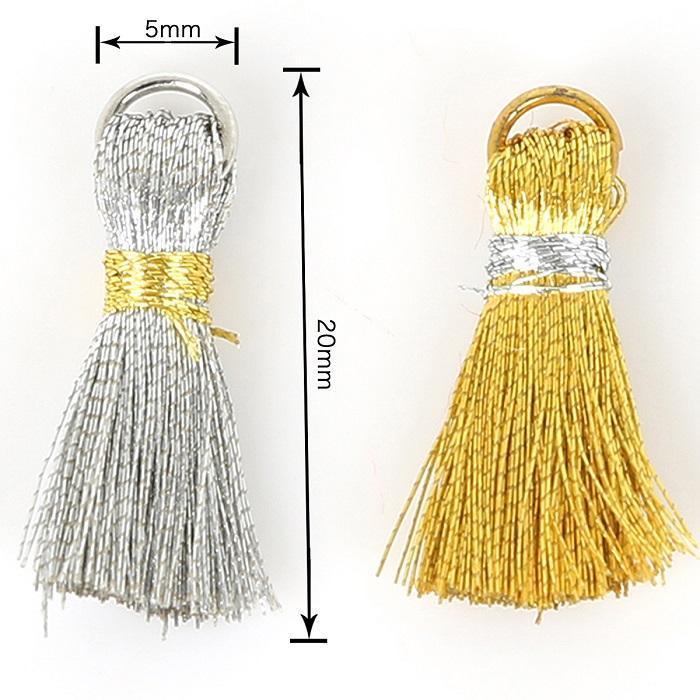 20pcs Gold Sliver Silk Tassel Lace Cotton Fabric Trim Fringe Ribbon Drop Handmade Sewing Curtains Clothes Accessories H jllUMl