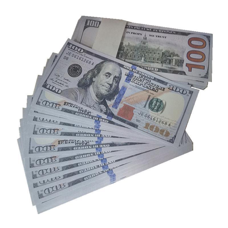 Bar Paper Cadeaux 100 accessoires de livraison 1: 1 Simulation de film Simulation de film Money Gexvx accessoires enfants 2b jouets rapides accessoires argent chlop