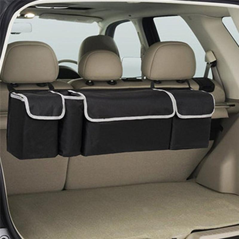 Araba Gövdesi Organizatör Backseat Saklama Çantası Yüksek Kapasiteli Çok Kullanımlı Oxford Bezi Araba Koltuğu Geri Organizatörler İç Aksesuarlar QC47