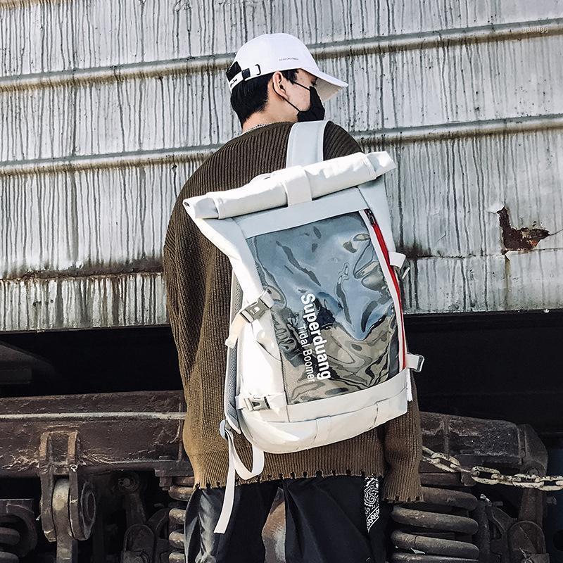 Trendy Bright Oxford Panno Panno Impermeabile Zaino da donna Hip Hop Grande Capacità Zipper Zaino Zaino Scuola Borsa da viaggio Borsa da viaggio Rucksack1