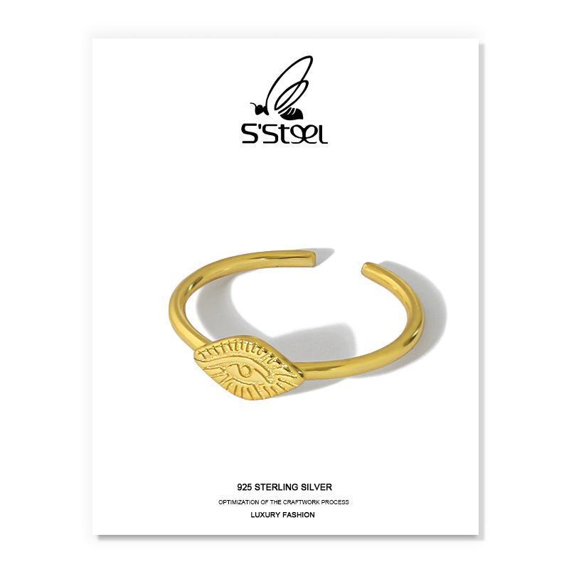 Кластерные кольца S'steel ade Elect для женщин стерлингового серебра 925 модный дизайнер минималистский золотой открытый Bijoux Argent Fine Jewellery