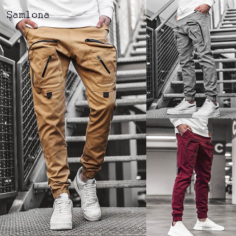 Moda Pantaloni per il tempo libero Pantaloni per il tempo libero Pantaloni cerniera Uomo Sport Sport Sport Hip Hop Joggers Pantaloni da uomo Casual Sweatpants Streetwear X1116