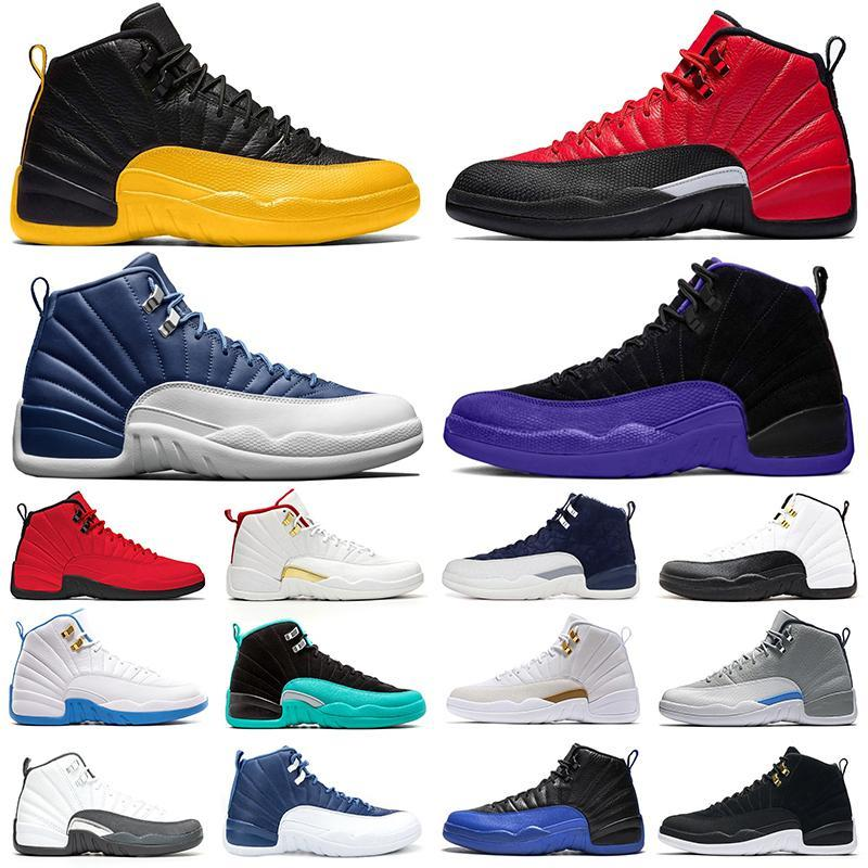 12 الجامعة الذهب 12 ثانية أحذية كرة السلة النيلي عكس الانفلونزا لعبة الظلام كونكورد منصة رجل الرياضة أحذية رياضية