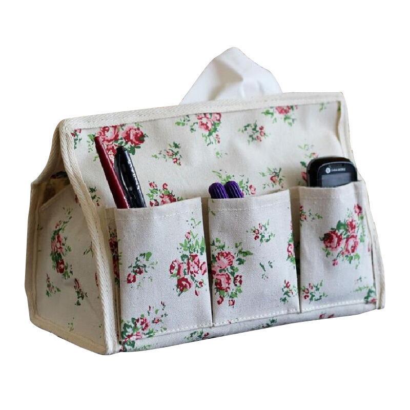 Коробки из хлопка и льняной ткани Многофункциональная пылезащитная салфетка для салфетки Организатор Организатор Творческие ткани Крестивости с высоким качеством 5WS J1