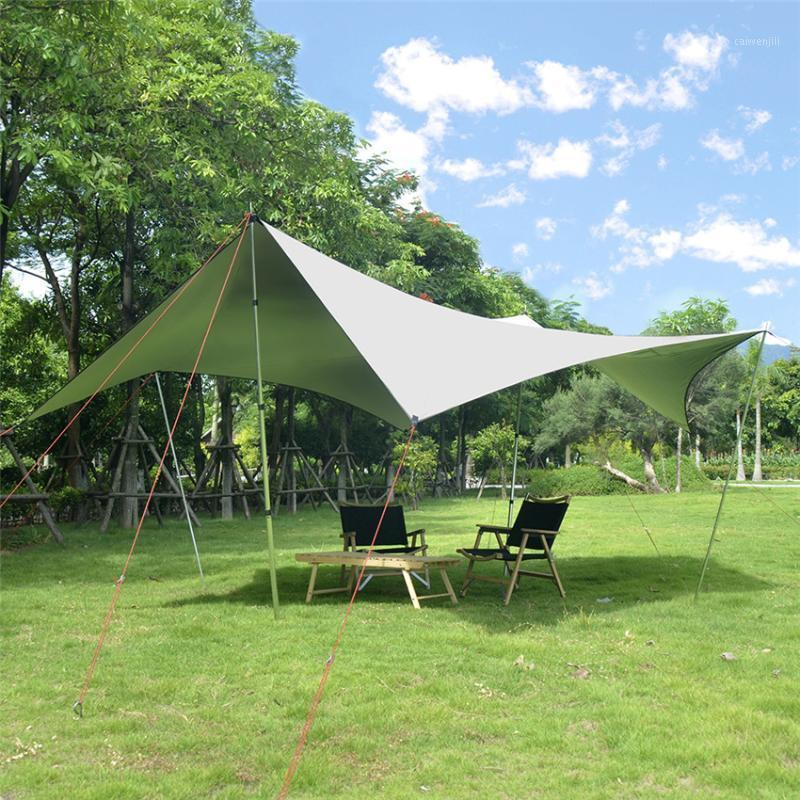 Large Space Outdoor Camping Shade Anti-ultraviolet Sunscreen Heat Insulation Camping Shelter Tent Canopy 450*440*200cm1