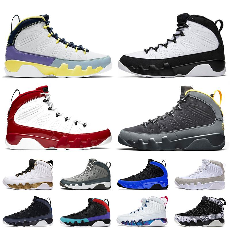 Nike Air Jordan 9 9s Stock x Jordan Retro 9 Jumpman Gym Rouge Racer Bleu Mens Basketball en satin ChaussuresJordanRétro Berry entraîneurs des hommes de taille Sneakers