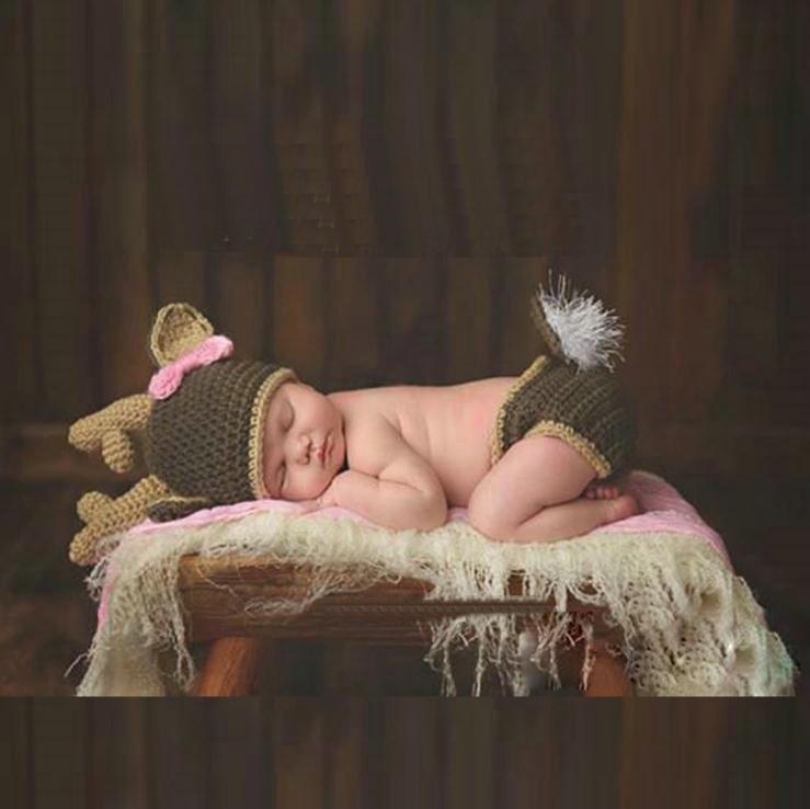 Recién nacido fotografía accesorios de punto Cosvario Disfraz de bebé Bebé Sombrero Bebé Bebé Bebé Precios