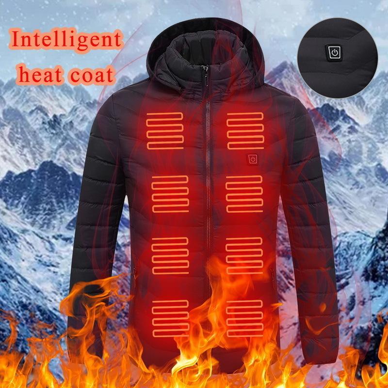 Cysincos 남자 겨울 따뜻한 USB 난방 자켓 코트 스마트 서모 스탯 단단한 후드 가열 파카 방수 야외 따뜻한 재킷 LJ201030