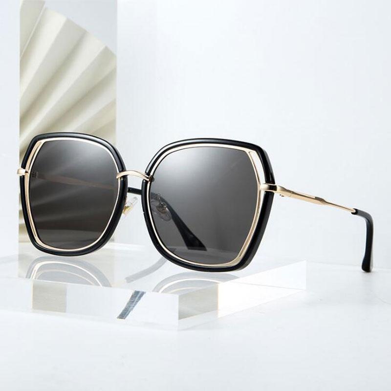 Роскошные женские дизайнеры Trend Солнцезащитные очки Женщины Модные оттенки Европы и американский Черный Большой Рамки Солнцезащитные Очки УГ-Ампю