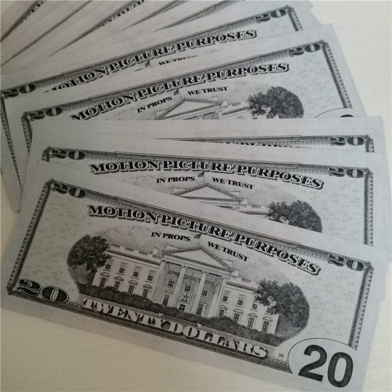 Puntelli magici di vendita a caldo 20 dollari Set completo di puzzle creativo Close-up Giocattoli per bambini in bianco in banconote