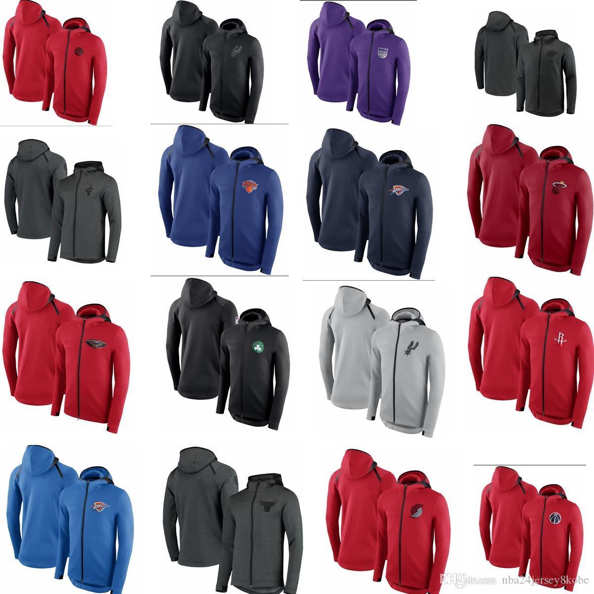 uominiCalore uominiFelpa con cappuccio per abbigliamento sportivo all'aperto, team di basket con cerniera saluto casual warm-up jumper