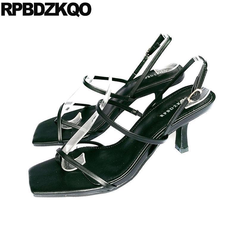 Feminino Gladiador 2020 Slingback Designer de Verão Sapatos Senhoras Salto Alto Bombas Branco Stiletto Mulheres Open Toe Sandálias Barato Preto